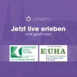 odWeb.tv live erleben, Messeangebote sichern und gewinnen