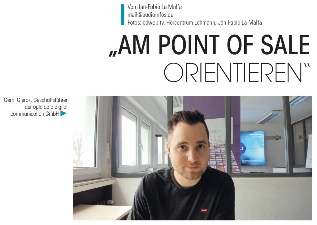 AUDIO INFOS: Exklusiv-Interview mit Gerrit Gierok